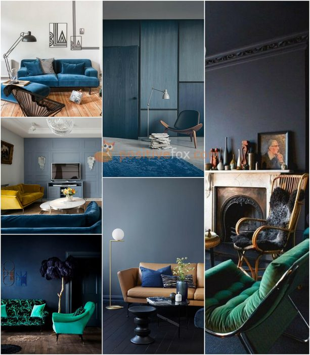 Interior Design Color Schemes. Interior design trends 2017-2018. Blue Interior Design Ideas