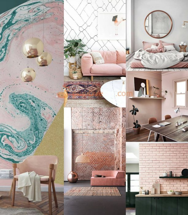 Interior Design Color Schemes. Interior design trends 2017-2018. Pink Interior Design Ideas