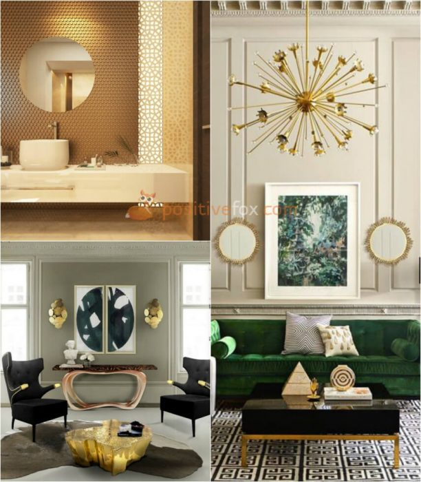 Interior design trends 2017-2018 Metal Interior Design