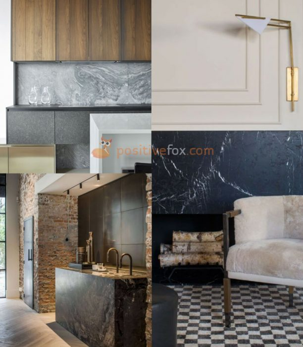 Interior design trends 2017-2018. Marble interior Design