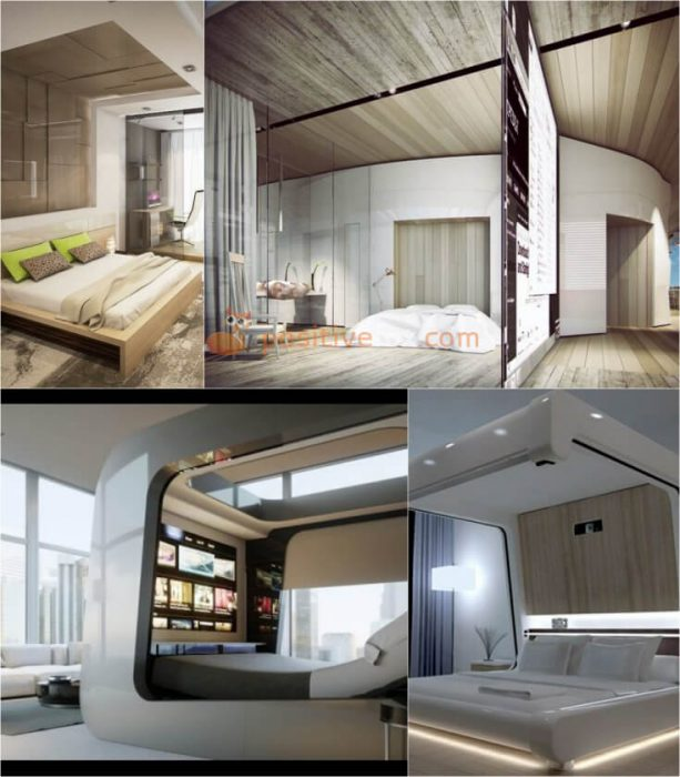 High Tech Bedroom. High Tech Interior Design Ideas