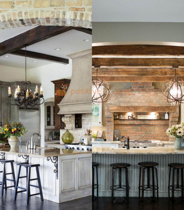 Country Style Kitchen Interior Design. Kitchen Design Ideas With Best  Examples.