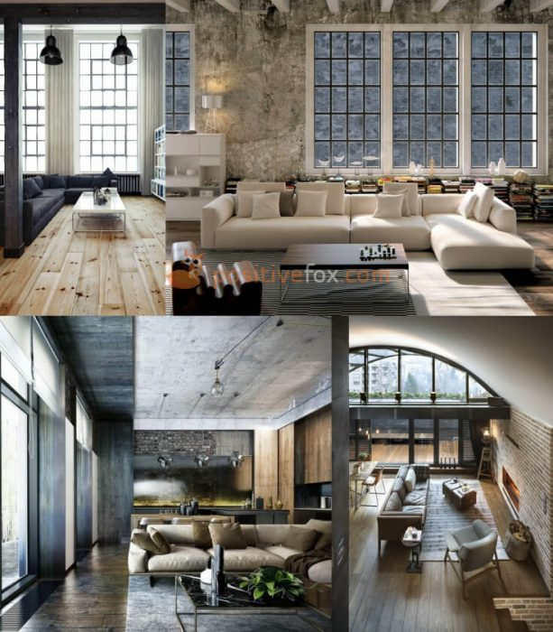 Loft Interior Design Ideas. Loft Living Room Interior Design.
