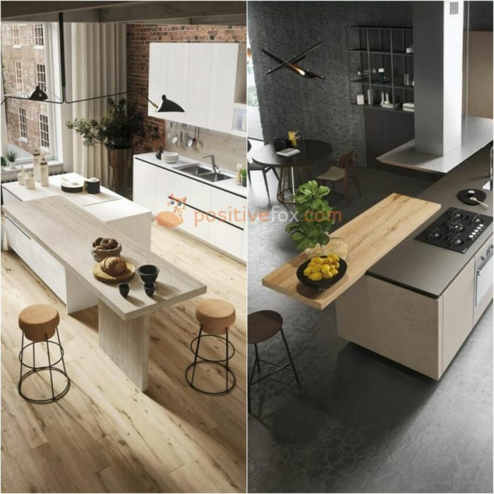 Two Level Breakfast Bar. Ideas for Kitchen Counter