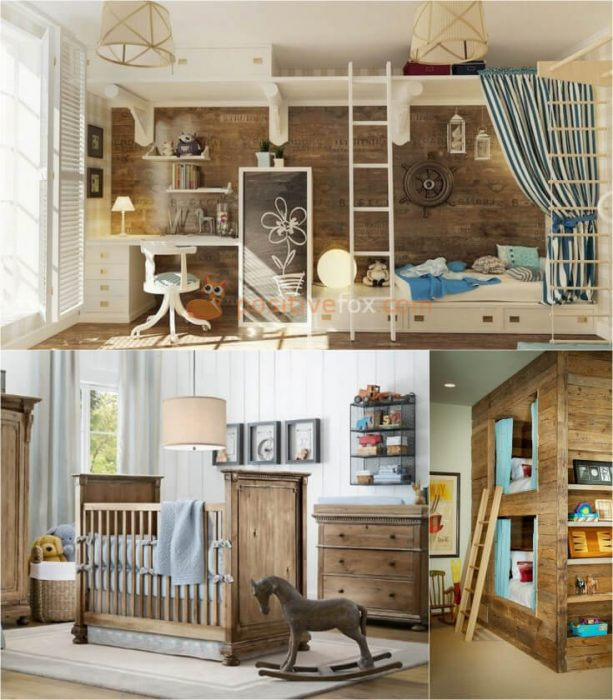 Country Style Kids Rooms Interior Design