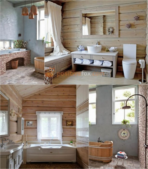Country Style Bathroom Interior Design