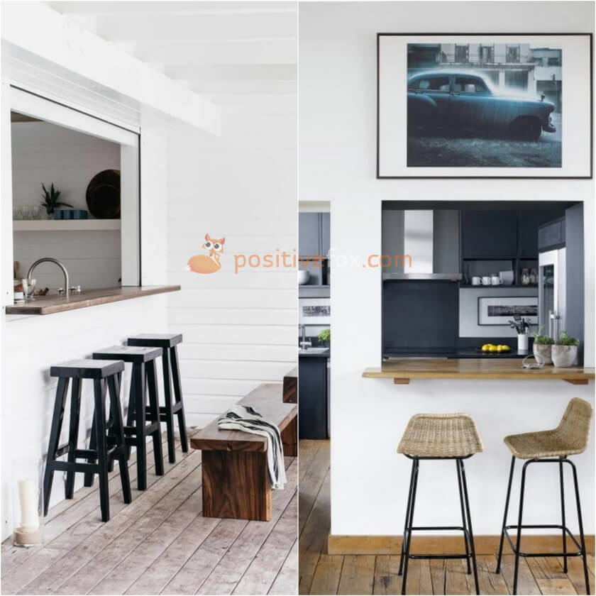Wall Mounted Breakfast Bar. Ideas for Kitchen Counter