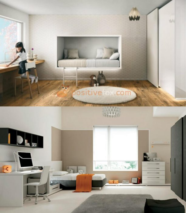 High Tech Interior Design for Small Kids Room. Nursery Design Ideas