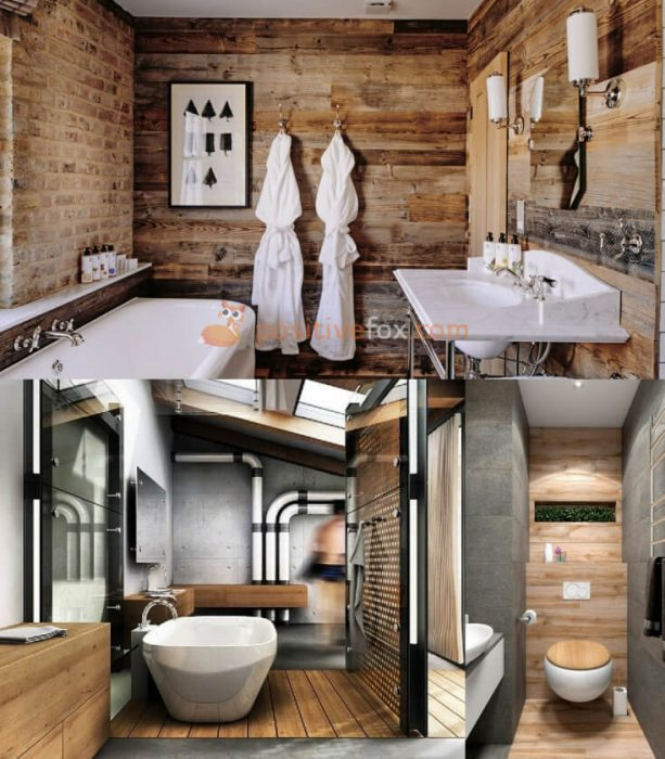 Loft Interior Design. Ideas for Small Bathroom.