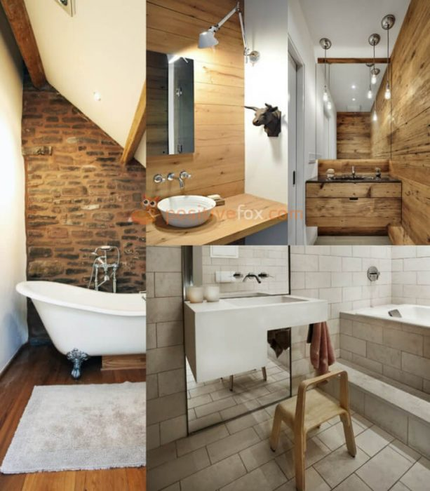 Loft Interior Design. Ideas for Small Bathroom.