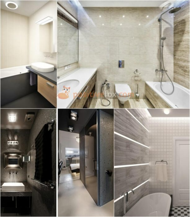 High Tech Interior Design for Small Bathroom