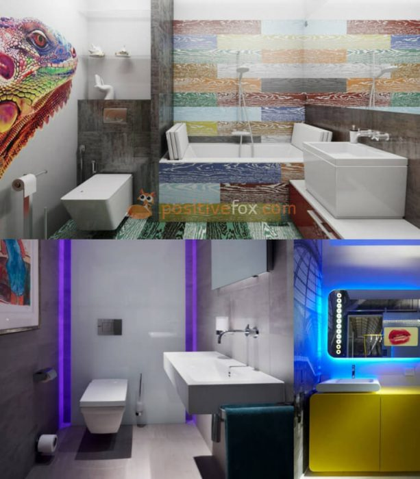 High Tech Interior Design for Small Bathroom