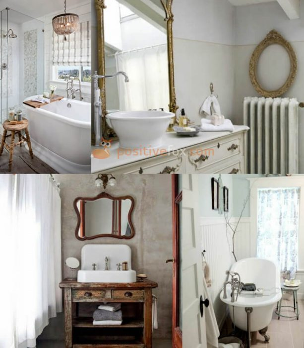 Provence Interior Design for Small Bathroom
