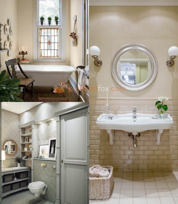 Provence Interior Design for Small Bathroom