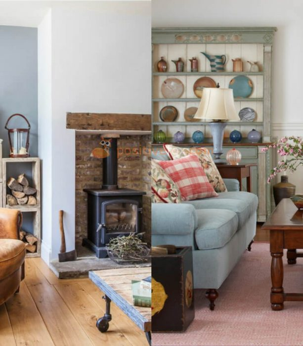 Country Interior Design for Small Living Room