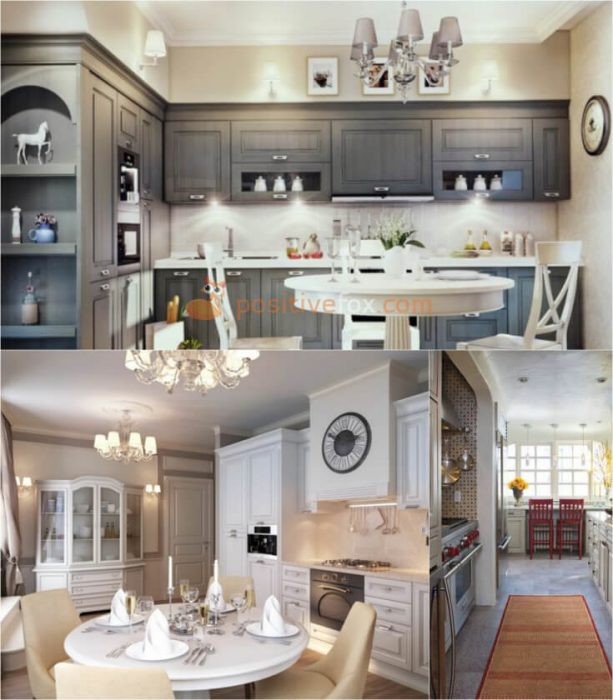 Classic Interior Design for Small Kitchen