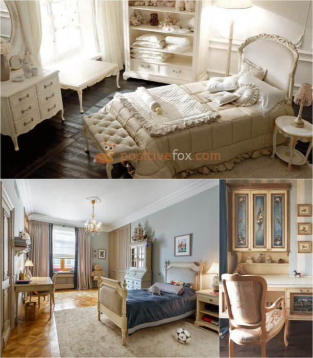Classic Interior Design for Small Kids Rooms. Nursery Design Ideas