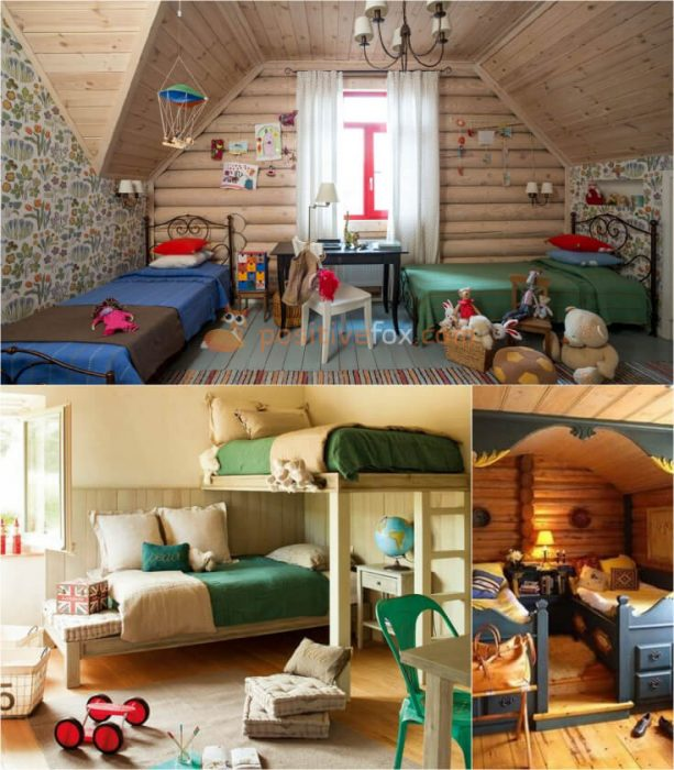 Country Interior Design For Small Kids Rooms.