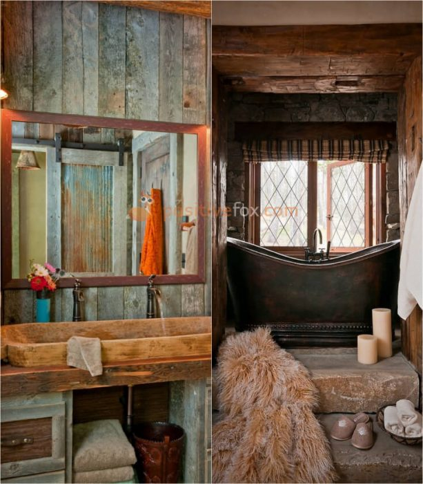 Country Interior Design for Small Bathroom