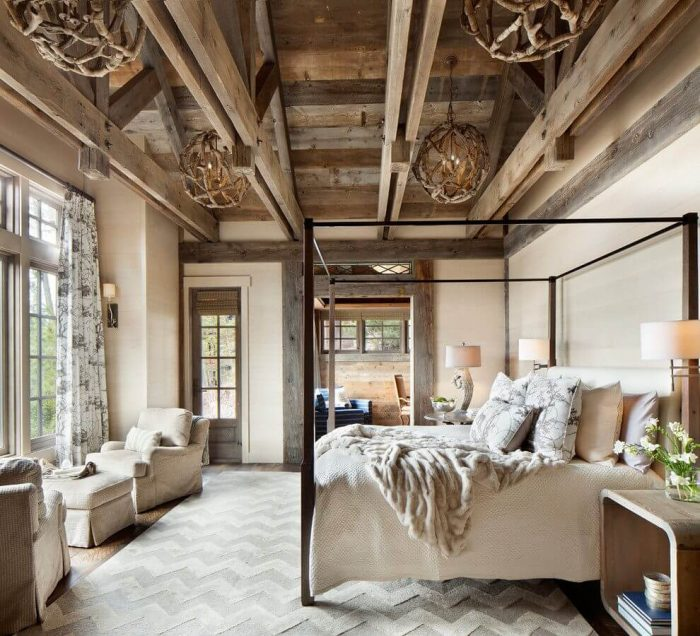 100 Bedroom Decorating Ideas Designs: Country & Rustic Bedroom