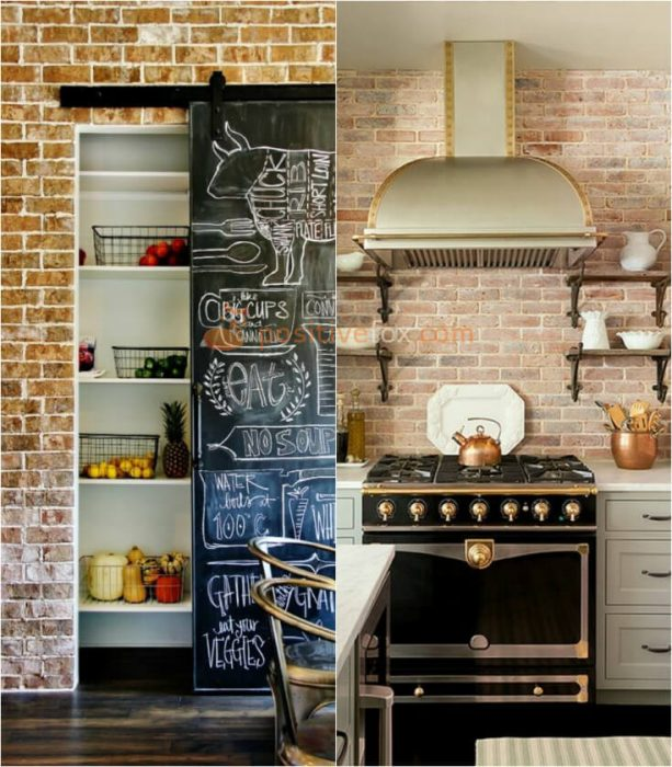 Kitchen Brick Wall. Kitchen Wall Decor and Kitchen Wall Ideas
