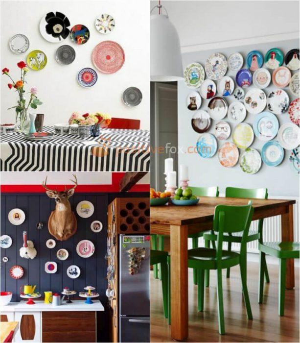Plate Wall Decor. Kitchen Wall Decor. Kitchen Wall Ideas
