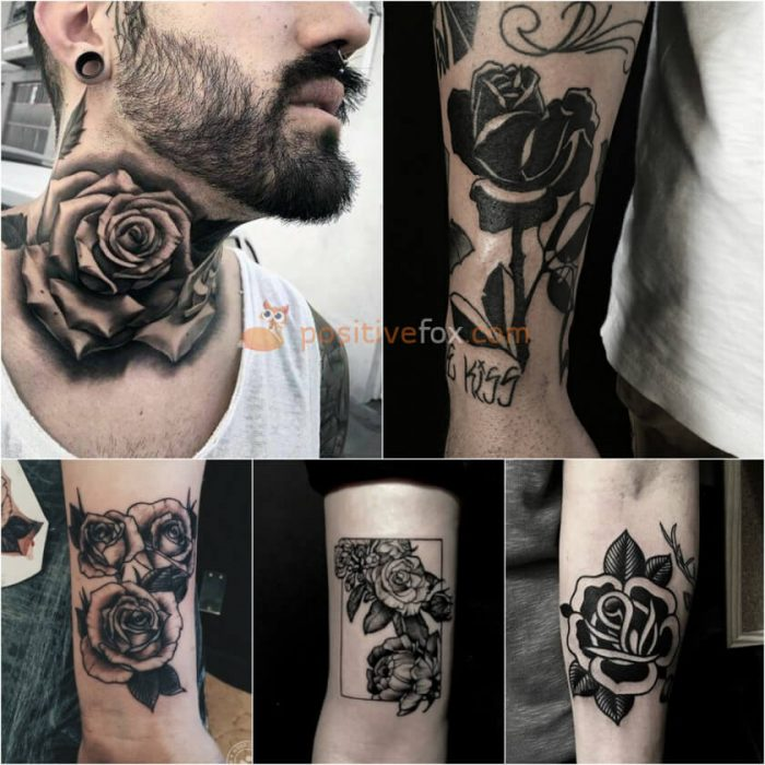 Rose Tattoos. Rose Tattoo Ideas. Black Rose Tattoo