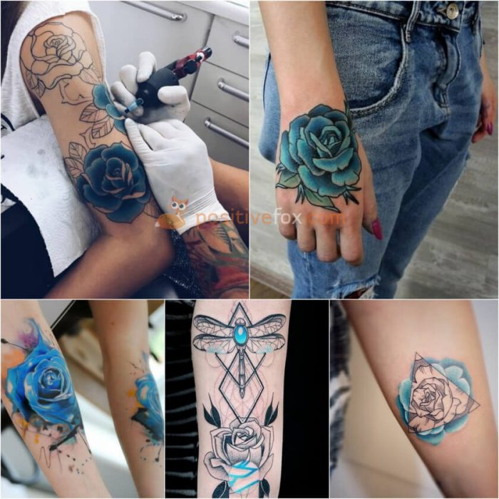 Rose Tattoos. Rose Tattoo Ideas. Blue Rose Tattoo