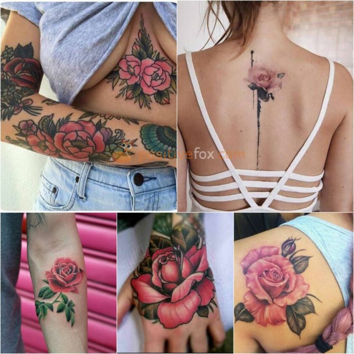 Rose Tattoos. Rose Tattoo Ideas. Pink Rose Tattoo