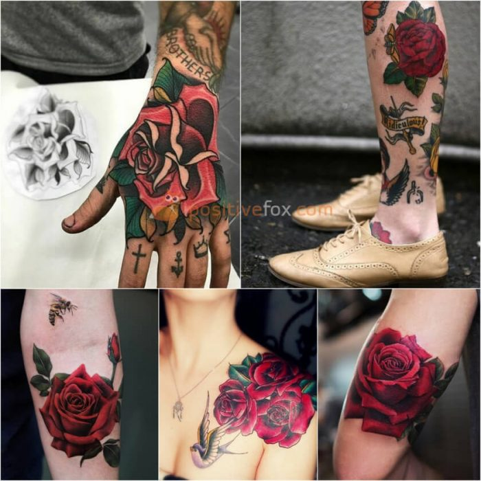 Rose Tattoos. Rose Tattoo Ideas. Red Rose Tattoo
