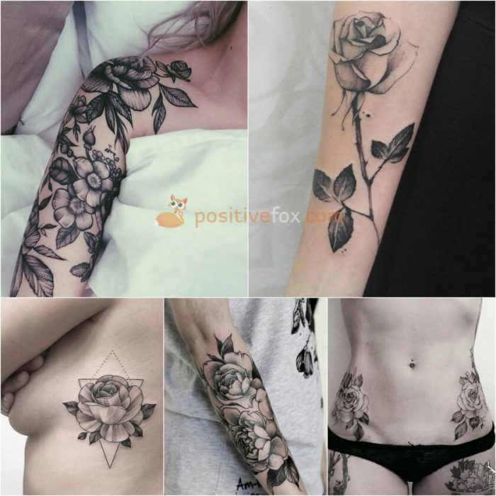 Rose Tattoos. Rose Tattoo Ideas. Rose Tattoos for Women