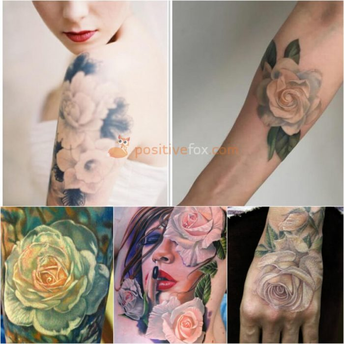 Rose Tattoos. Rose Tattoo Ideas. White Rose Tattoo