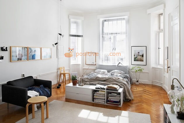 Scandinavian Bedroom Design Windows
