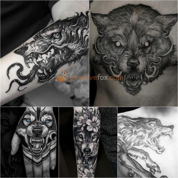 Wolf Tattoo. Wolf Tattoo Designs. Snarling Wolf Tattoo