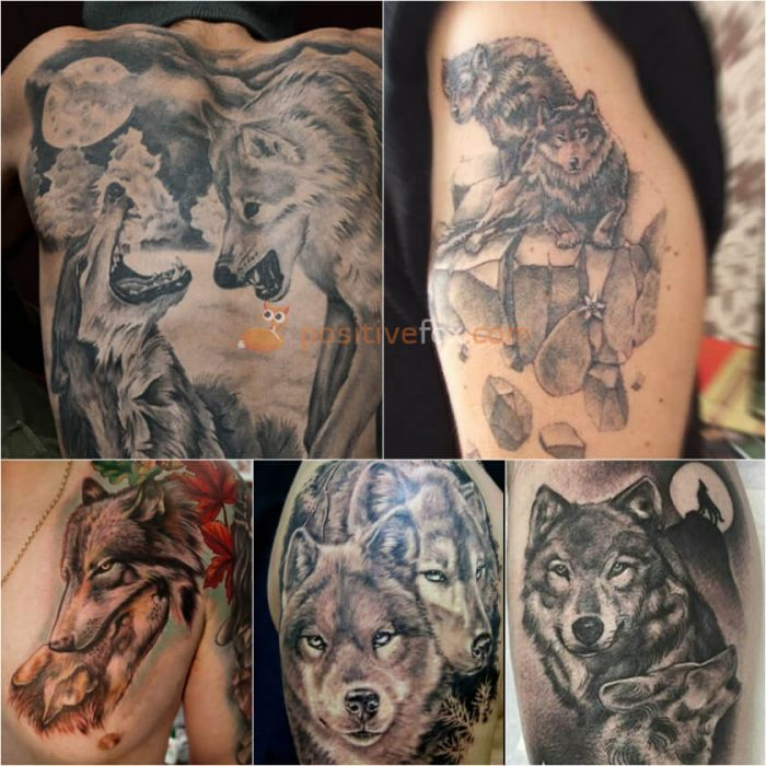 Wolf Tattoo. Wolf Tattoo Designs. Two Wolves Tattoo
