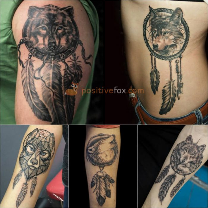 Wolf Tattoo. Wolf Tattoo Designs. Wolf Dreamcatcher Tattoo