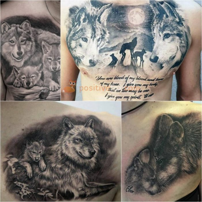 Wolf Tattoo. Wolf Tattoo Designs. Wolf Family Tattoo
