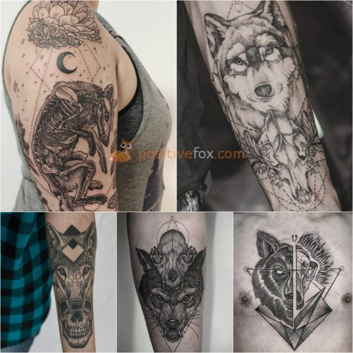 Wolf Tattoo. Wolf Tattoo Designs. Wolf Skull Tattoo
