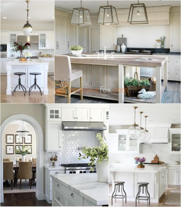 Classic White Kitchen. White Kitchen Ideas. Kitchen Interior Design