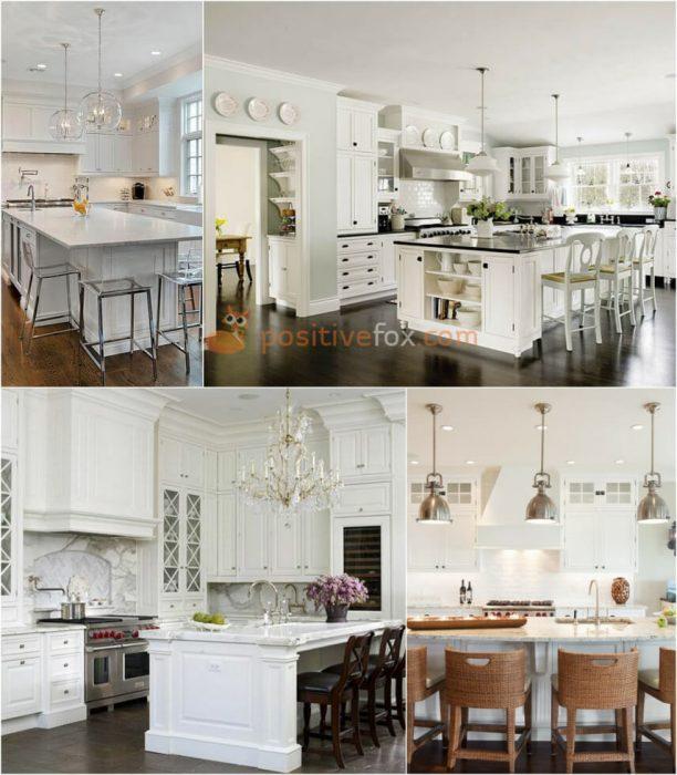Classic White Kitchen. White Kitchen Ideas. Kitchen Interior Design