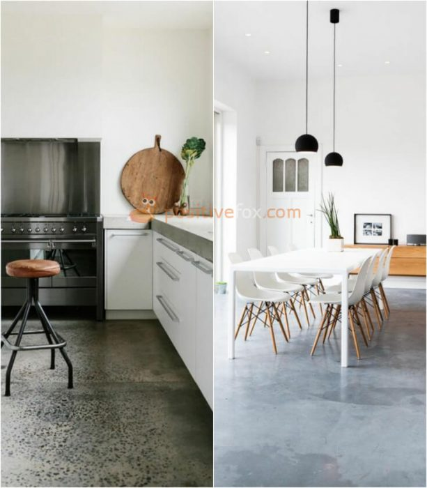 Concrete Kitchen Flooring. Kitchen Flooring Ideas