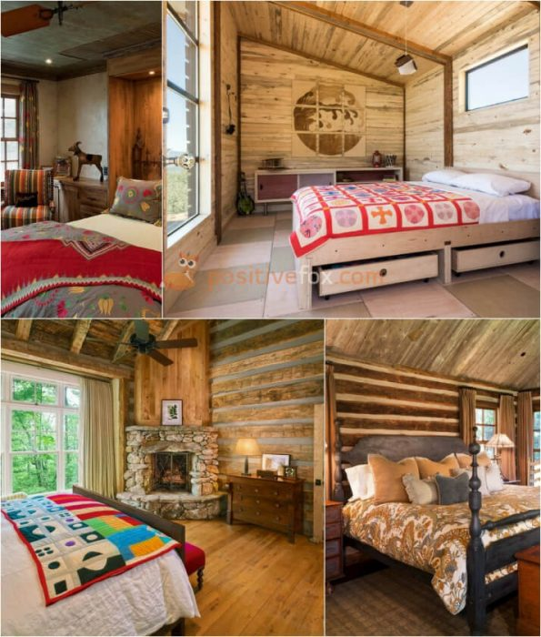 Country Bedroom Decor. Rustic Bedroom. Country Interior Design