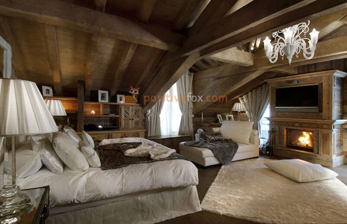 Country Bedroom Lighting. Rustic Bedroom. Country Interior Design