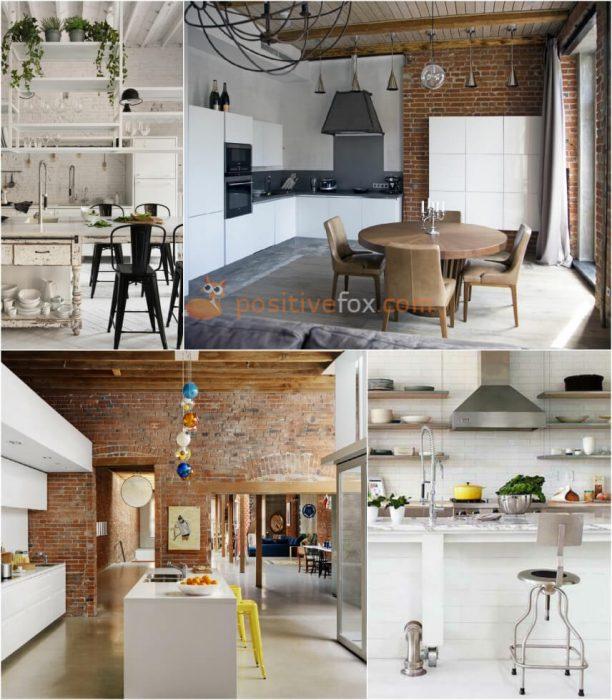 Loft White Kitchen. White Kitchen Ideas. Kitchen Interior Design