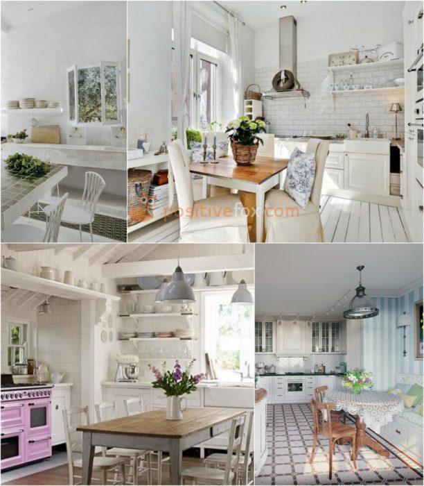 Provence White Kitchen. White Kitchen Ideas. Kitchen Interior Design