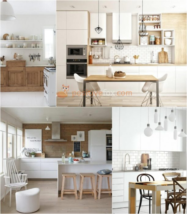 Scandinavian White Kitchen. White Kitchen Ideas. Kitchen Interior Design