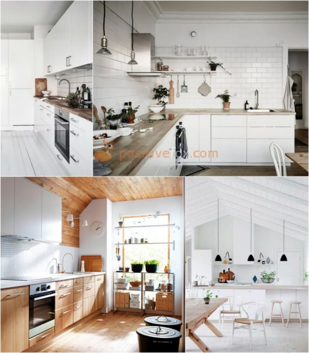 Scandinavian White Kitchen. White Kitchen Ideas. Kitchen Interior Design
