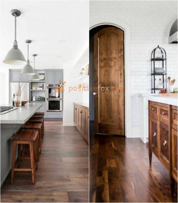 Wood Flooring in Kitchen. Kitchen Flooring Ideas
