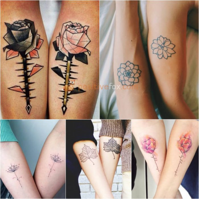 Couple Tattoos. Couple Tattoo Ideas - Flower Tattoos