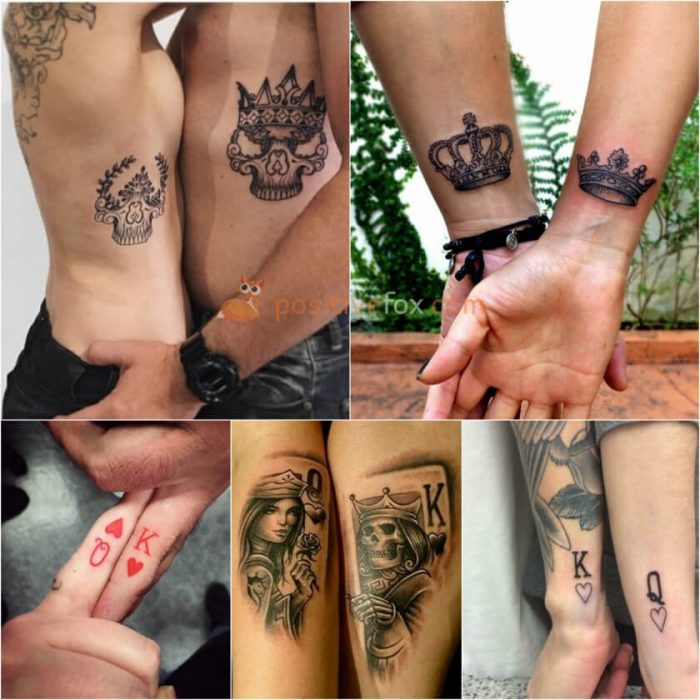 Couple Tattoos. Couple Tattoo Ideas - King and Queen Tattoo